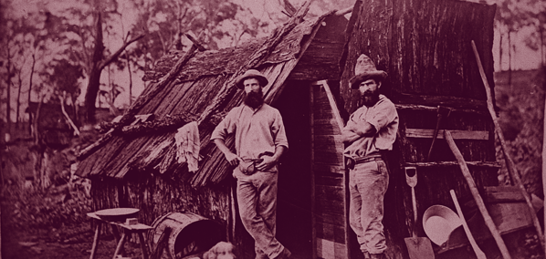 Queensland mining hut (credit State Library QLD)